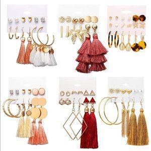 39 Pairs Tassel Earrings Bohemian Statement